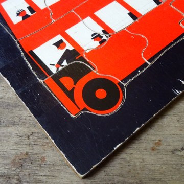 Vintage London bus jigsaw puzzle | H is for Home