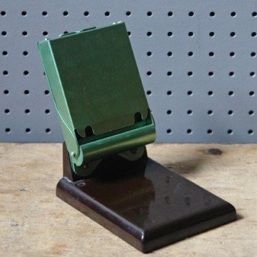 Vintage metal note pad holder | H is for Home