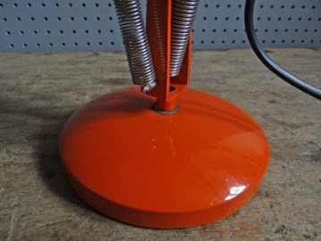 orange vintage Anglepoise lamp