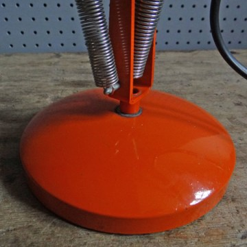 orange vintage Anglepoise lamp