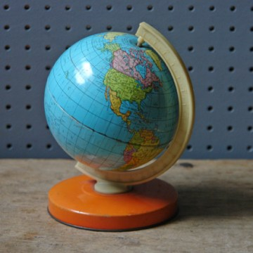 Vintage toy globe | H is for Home