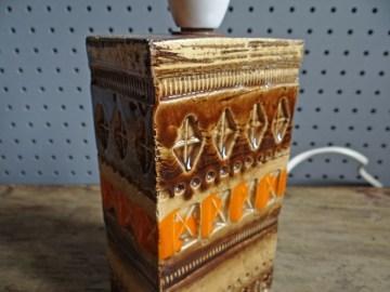 Orange & brown Bitossi lamp base