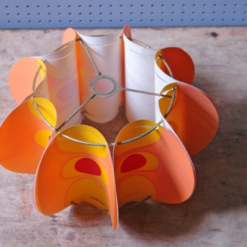 Vintage orange pop art lampshade | H is for Home