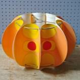 Vintage orange pop art lampshade | H is for Home