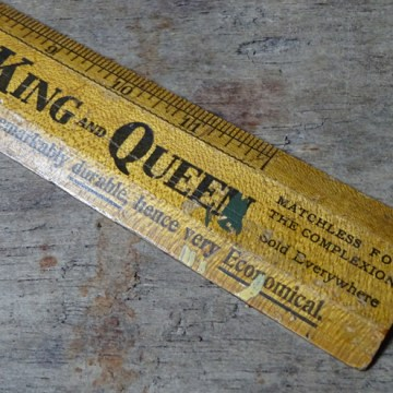 Vintage wooden Pears ruler | H is for Home