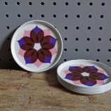 Kromer-Zolnir pink purple coasters