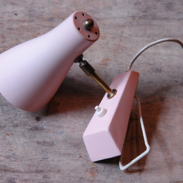 Vintage pink wall light | H is for Home