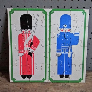 Policeman and guard jigsaw puzzle
