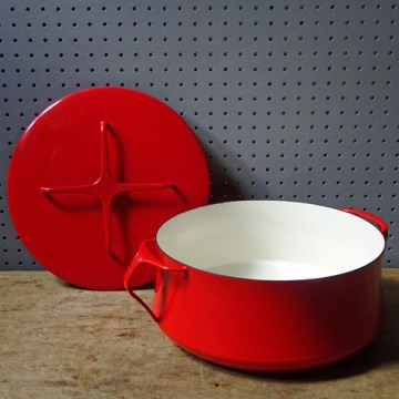 Red vintage Kobenstyle casserole pan | H is for Home