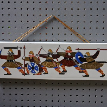 Vintage Rolf Froyland vikings plaque | H is for Home