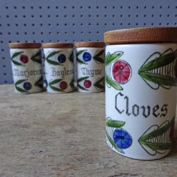 Vintage Dalom Rorstrand spice jars | H is for Home