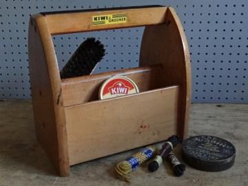 shoe shine carry box