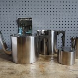 stainless steel Stelton tea set