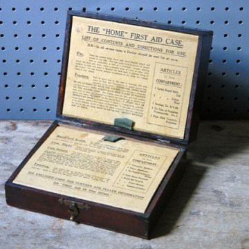 Wooden vintage Boots The Home first aid case | H is for Home