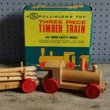 pull along timber train