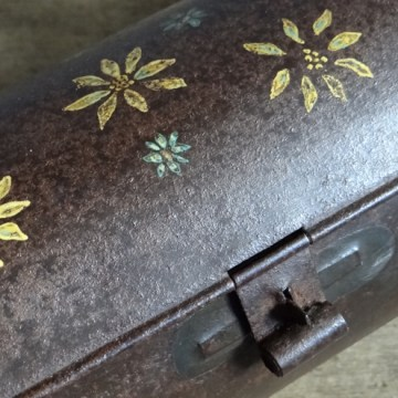 antique tin candle box