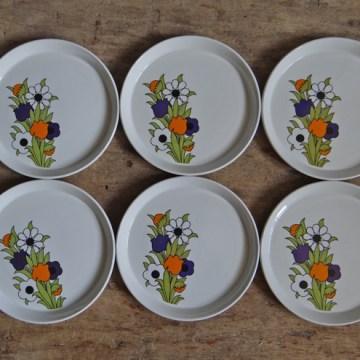 Tudorware floral plates