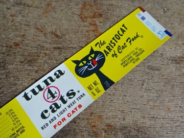 Tuna 4 cats label