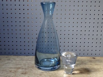 Vintage Wedgwood glass decanter | H is for Home