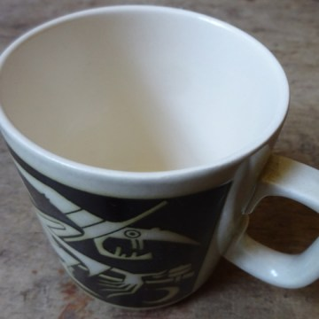 Vintage witches Hornsea birthday mug | H is for Home