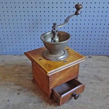 wood & metal coffee grinder
