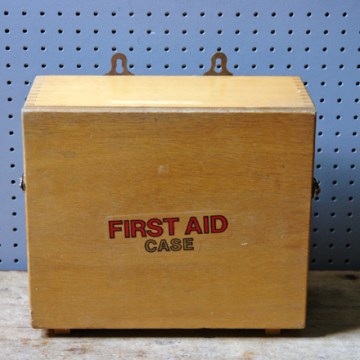 Vintage wooden first aid case with contents | H is for Home