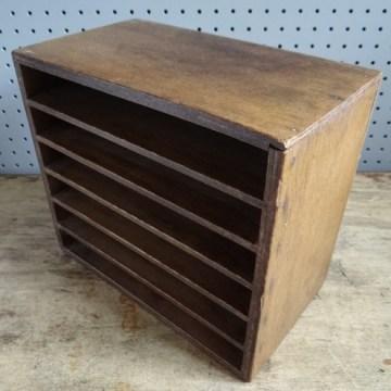wooden storage file