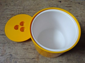 Yellow vintage Crayonne ice bucket   H is for Home