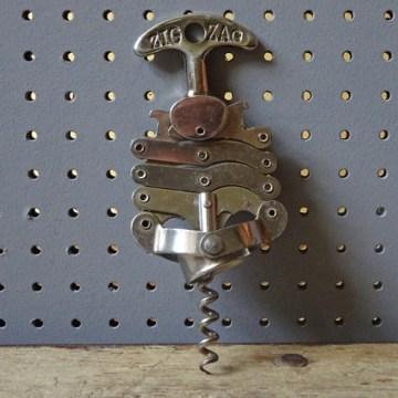 Vintage Zig Zag bottle opener / corkscrew   H is for Home
