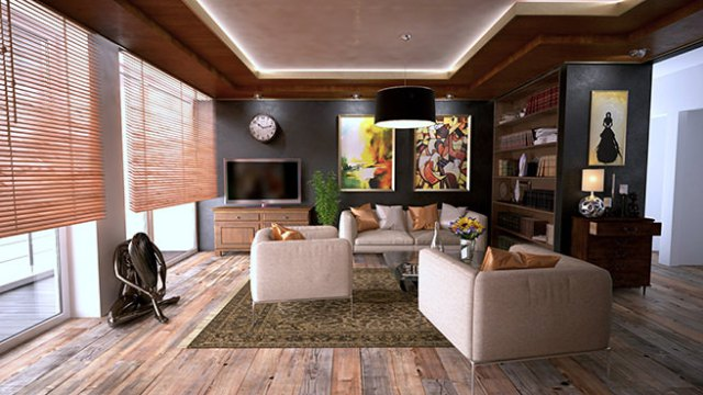 Modern decorated sitting room