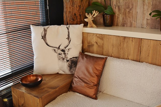 Rustic interior decorated in natural colours