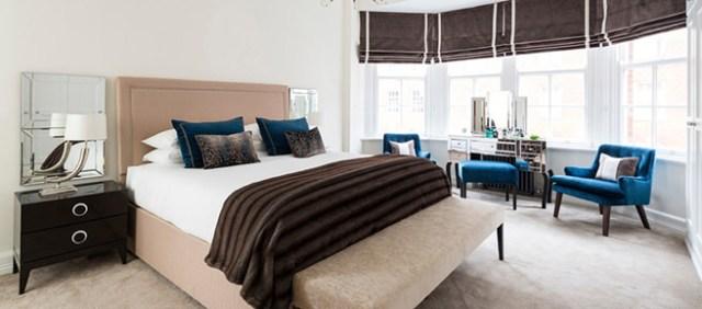 Large bedroom bay window