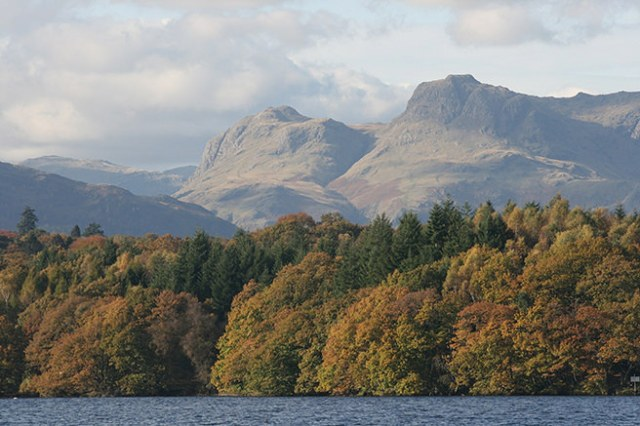 Photograph of the Langdale Pikes in the Lake District