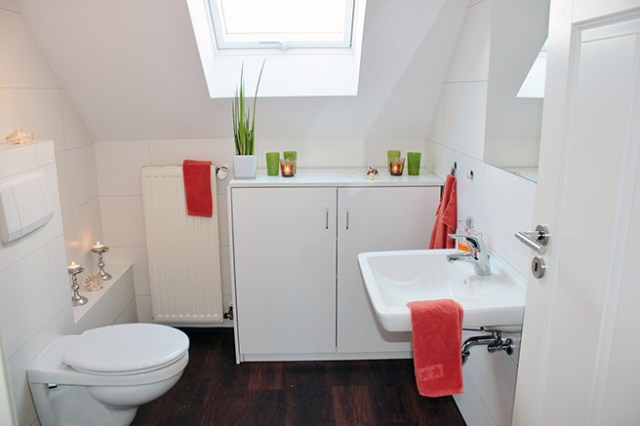 Compact loft bathroom