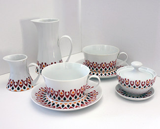 Vintage Bidasoa Block part tea set