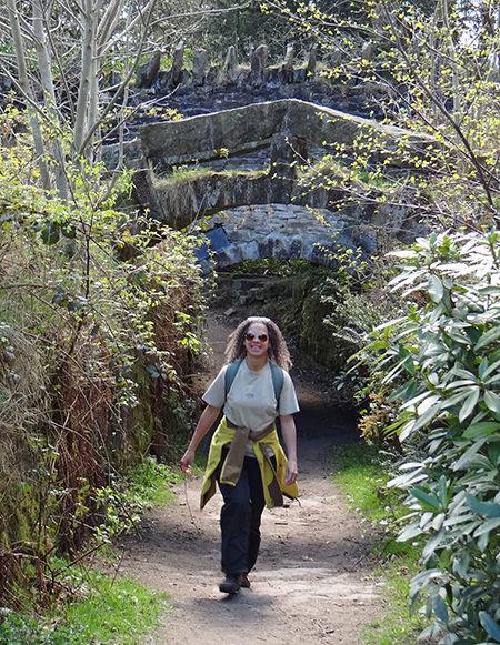 Adelle walking in St Ives Estate, Bingley