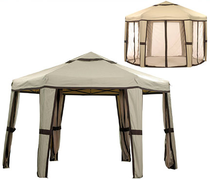 Camelot hexagonal easy-up gazebo