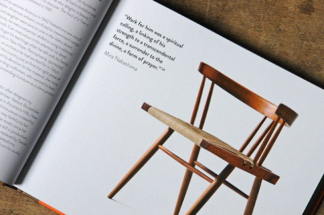 Grass-seated chair designed by George Nakashima