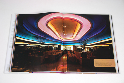 "page from the book, ""70s Style & Design"" showing a neon ceiling"