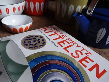 Grete Prytz Kittelsen - The art of enamel design book with a selection of Lotus enamelware