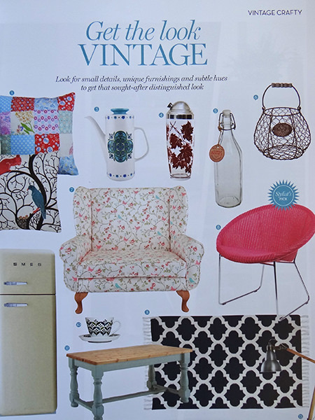 'Get the Look' page from Homes and Antiques' 'Vintage Homes' book