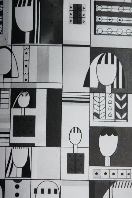 Jacqueline Groag's monochrome 'Cleo' textile design