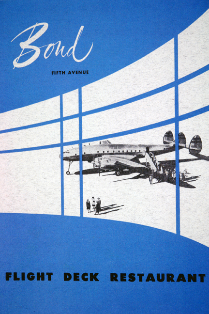 Bond Fifth Avenue Flight Deck menu