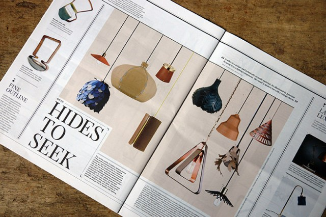 'Hides to Seek' article in Warehouse Home magazine