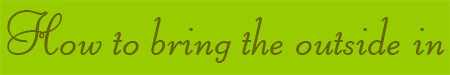 'How to bring the outside in' blog post banner