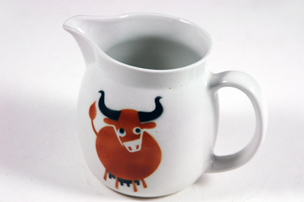 vintage milk jug designed by Kaj Franck and produced by Arabia of Finland