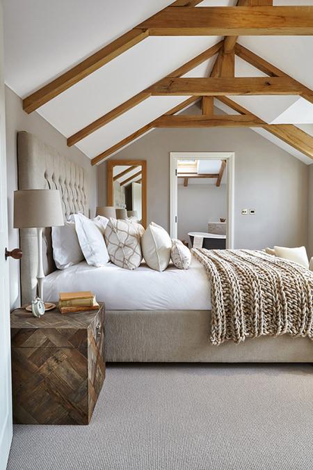 Bedroom with a cream colour scheme