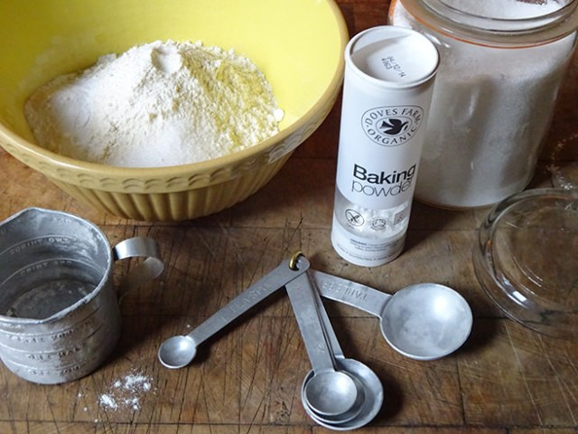 Dry ingredients for butter-dipped biscuits | H is for Home