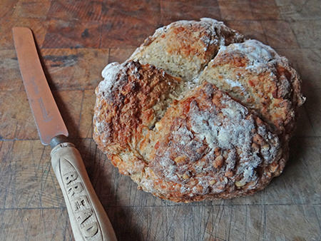 loaf of home made cheese soda bread | @hisforhome