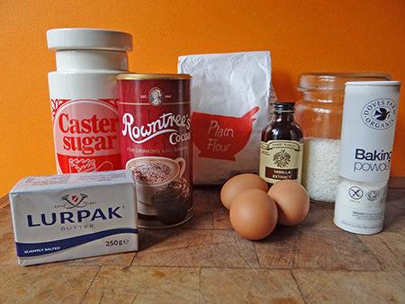 coconut brownie ingredients   via @hisforhome #recipe #chocolate #brownies